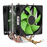 Jadeshay CPU Cooling Fan 90mm 3Pin Dual-Sided Fan CPU Cooler Heatsink Quiet for Intel LGA775/1156/1155 AMD AM2/AM2+/AM3