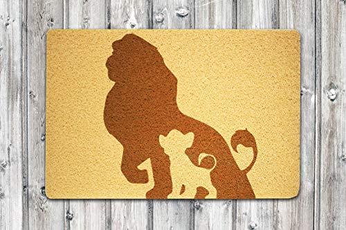 StarlingShop León King - Felpudo personalizado con diseño de Rey León, ideal para decoración al aire libre, regalo de cumpleaños