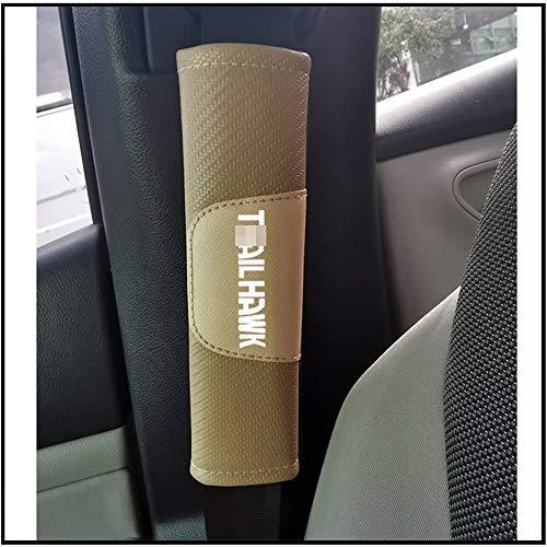 ZWH-box 2 Pcs Car Carbon Fibre Seat Belt Pad Cover Soft Comfort Safety Seat Belt Shoulder Strap Protector For Jeep Trailhawk