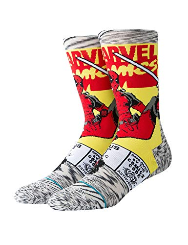 Stance Herrensocken EVERYDAY DEADPOOL COMIC Grey, Größe:L