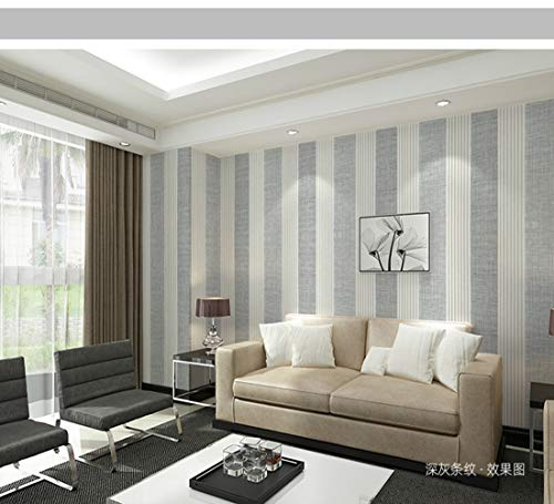 ELECTOLS Hintergrundbild PVC-Fliesentapete Selbstklebende Küche ölbeständige Klebefolie, Möbelsanierung, Wohnzimmer, TV-Hintergrunddekoration, strukturierte Profiltapete, Darkgraystripes, 5 m x 60 cm