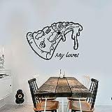 zhuziji Pizza Pizzeria Logo Schild Essen Restaurant Aufkleber Vinyl Kunst Wandtattoo Dekoration...