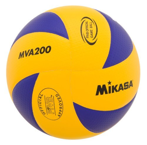 Mikasa MVA200 2016 Rio Olympic Game Ball (Blue/Yellow) by Mikasa Sports