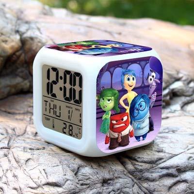 Zhuhuimin wekker voor kinderen, cartoon, 7 kleuren, elektronisch, digitaal, wekker, lamp met LED-display