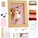 Needle Felting Starter Kit, WEST BAY Needle Felting Animal Kits with Photo Frame Instructions Wool Roving for DIY Craft Animal Home Decoration