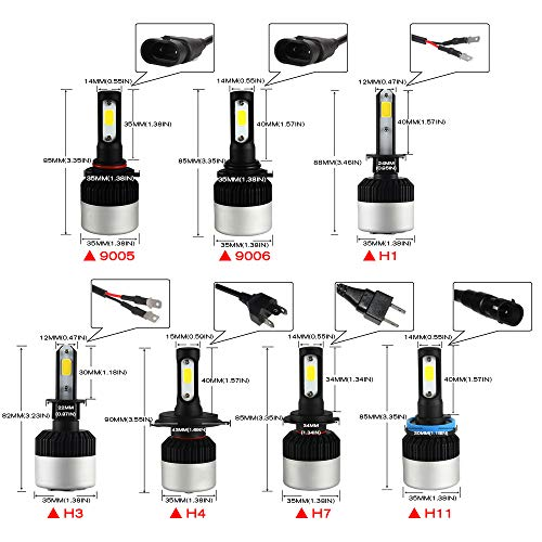 Bombillas LED Coche Faro Faros Delanteros Para Automóvil H7 H4 / Hb2...