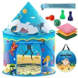 NONZERS Kids Play Tent, Pop Up Tent for Kids, Foldable Sea World Playhouse Tents with Storage Carry Bag, Bean Bags, Chessmen for Children Outdoor and Indoor Games