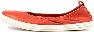 SUPERSOFT Altura Navy E Leather Ballets Flats Womens Shoes Pumps