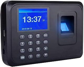 TECHVIDA Reloj Checador de Huella Digital Biometrico por Memoria de 1000 Huellas Digitales con Pantalla a Color DE 2.4 Pul...