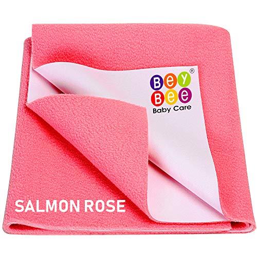 BeyBee Waterproof Baby Dry Sheet (Large (140cm X 100cm), Salmon Rose)