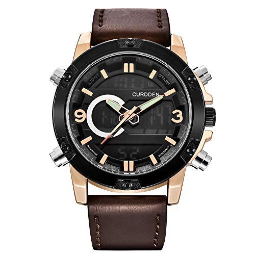 UINGKID Herren Uhr analog Quarz Armbanduhr wasserdicht Uhren Luxusmarke Sport Chronograph Quarz Leder