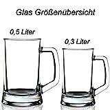 polar-effekt Bierkrug Personalisiert mit Gravur eines Namens 0,5l - 2