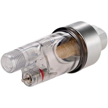 Mini filtro de aire Accesorios de pintura de manguera Aer/ógrafo Mini filtro de aire Trampa de agua de humedad Kit de herramientas de 1//8