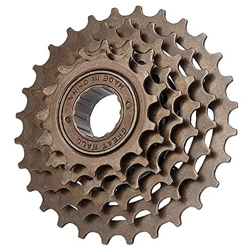 Niiyen Set Ruota Libera Bici, pignone Ruota Libera per Bicicletta 6 velocità 14T-28T Accessorio di Ricambio per Mountain Bike, con Filettatura ad Alta precisione, per Ruota Libera per Mountain Bike