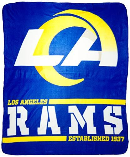 Northwest NFL Los Angeles Rams Split Wide Fleece Throw Blanket, 50' x 60'