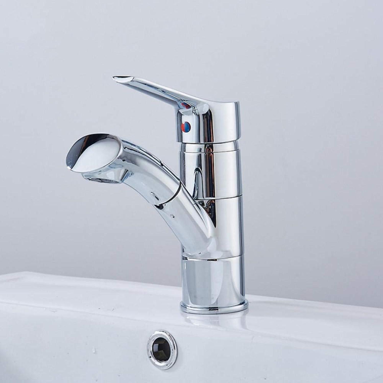 Hiwenr Pull Out Basin Wasserhahn Waschen Von Haaren Und Gesicht Einhand-Kran Mit Heiem Und Kaltem Wasser Waschbecken Mischbatterie Drehbar