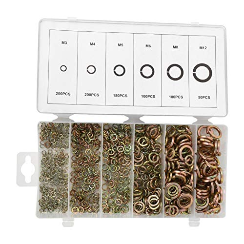 Arandela de resorte, accesorios de hardware de superficie lisa de acero para muelles, para bricolaje simple M3 / M4 / M5 / M6 / M7 / M8