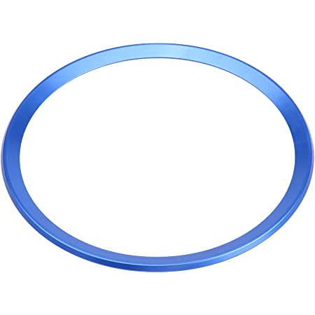 Lenkrad Emblem Rahmen Fydun Auto Aluminiumlegierung Lenkradbezug Verkleidung Dekoringe Dekoration Lenkradring Verkleidung Für A1 A3 A4 A5 A6 Q3 Q5 Blau Auto