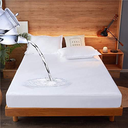 Xuanyijie vattentätt madrasskydd, 140x200cm, madrassöverdrag, sängskydd, mjukt ljudfritt, tvättbart, andningsbart, anpassat sänglakan, 30 cm djupt (140x200cm)
