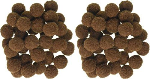 Pom Poms .5' 100/Pkg-Brown (2 Pack)