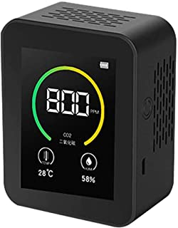 TOPQSC Détecteur de qualité de l'air, Instrument de Mesure de CO2, Plage de Mesure 400-5000 PPM, écran Couleur, Affichage ...