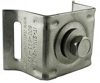 ISO SB021 Stainless Steel Bull's Eye Sign Mounting Brackets, Flared Leg w/Stainless Steel Bolt & Washer, 50 per Box