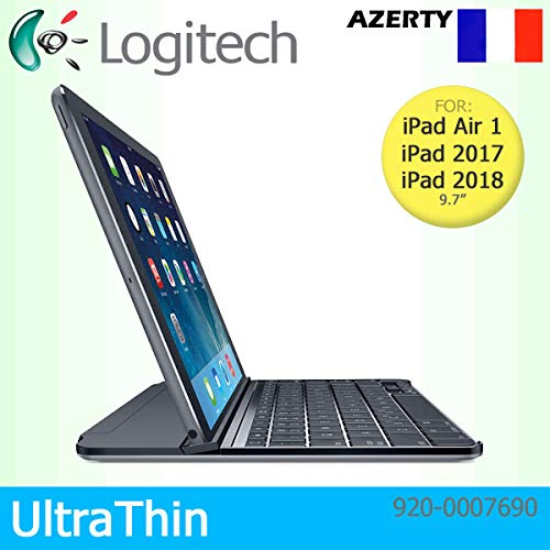 Logitech - Cover magnetica ultrasottile con clip per Apple iPad Air 1, 2017 e 2018, colore: Nero