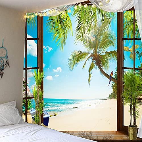 PPOU Nuevo Paisaje Bosque Serie Tapiz decoración de la Pared Tela Colgante decoración del hogar Tapiz Dormitorio estético Colgante de Pared A11 100x150cm