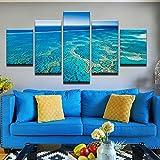 Foagge 5 Panel Seascape Malerei Auf Leinwand Kunstdruck
