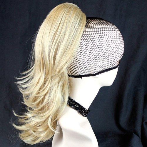 NOUVEAU Blond Queue de Cheval Barrette Extension de cheveux Ondulée