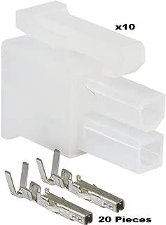 (2 Circuit) Molex, Receptacle Housing w/Female Crimp Terminals,- 18-24 AWG, Mini-Fit Jr (Pack of 10)