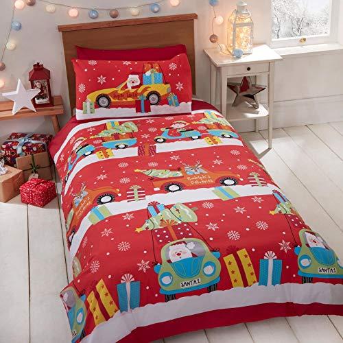 Rapport Christmas Delivery Duvet Cover Festive Seasonal Bed Set Junior, Multi, Toddler