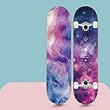 QAZXS Skateboard 7 Plis 31'x8 Pro Complet Skate Board Planches en érable avec poignée Peinte pour Adolescents Adultes Débutants Filles Garçons Enfants-ÉTOILE