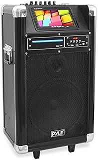 Pyle Portable Pa Speaker Karaoke Machine Speaker Boombox Wireless Microphone  Sound..