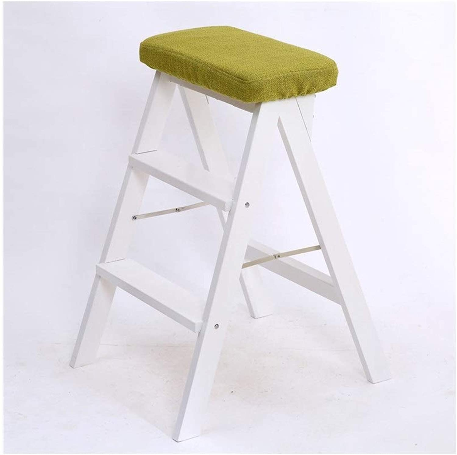 Ladder Chair, Folding Kitchen Steps Solid Wood Folding Step Stool, Kitchen Foot Stool, Portable Stool, Folding Ladder Chair. (color   C)