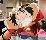 FUTURECASE Anime One Piece Comic Soft Funda para iPhone 6 6S 7 8 Plus X XR XS Max 11 12 Pro Max Mini SE 2020 Luffy Zoro Chopper Sanji Cartoon Cover (11, iPhone XR)