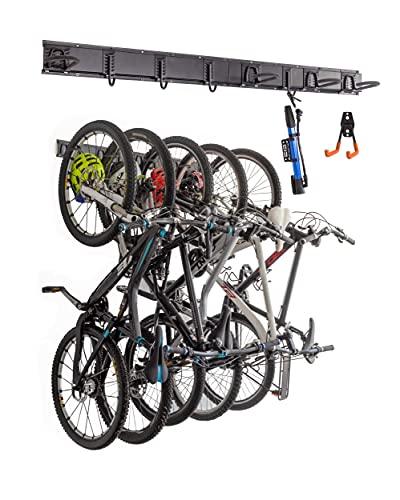 FDventur Wall Mount Bike Rack for Storage, Garage Space Saving. Fits 5...