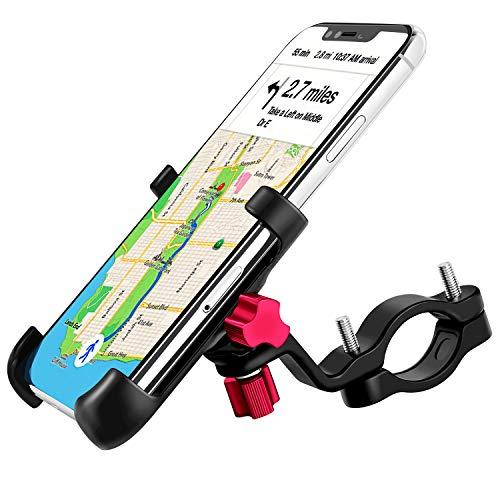 """ENONEO Supporto Bici Smartphone 360 Gradi Universale Supporto Telefono Bicicletta Alliage d'aluminium Porta Cellulare Bici per Moto MTB iPhone Samsung Huawei (Larghezza 2.16-3.74"""") (Nero)"""