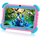 AILEHO Kids Tablet Toddlers Tablet for Kids Girls Learning Drawing with Kids Edition Tablet Case 7 Inch Children Toy Gift QuadCore 2GB+16GB Parents Control WiFi Android 9 Kid Mode Pre-Installed PC