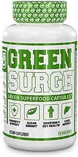 Green Surge Green Superfood Capsules - Keto Friendly Greens Supplement w/Spirulina, Wheat & Barley Grass - Organic Greens ...