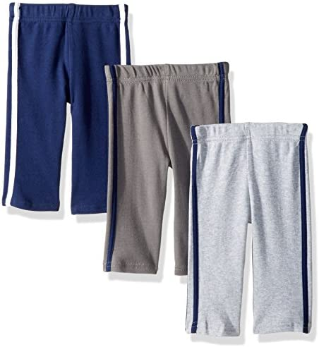 Hudson Baby Unisex Baby Cotton Pants and Leggings Navy Gray 2 Toddler product image