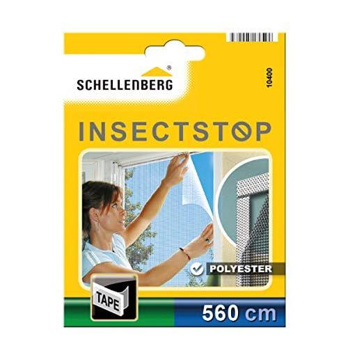 Schellenberg 10400 Nastro di Fissaggio Trasparente per zanzariere in Poliestere, 5,6 m Transparent