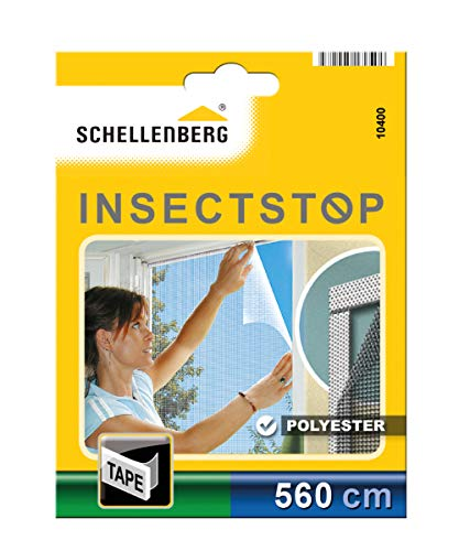 Schellenberg 10400 Befestigungsband für Fliegengitter aus Polyester, Bandlänge 5,6 m