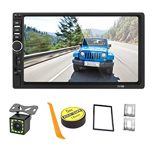 Stereo Auto Bluetooth Autoradio 2 Din,Touchscreen HD da 7 Pollici Lettore MP5 Auto Bluetooth USB/SD/AUX Ingresso,FM Radio,Collegamento Mirror del Telefono,Car Radio con Telecamera Posteriore