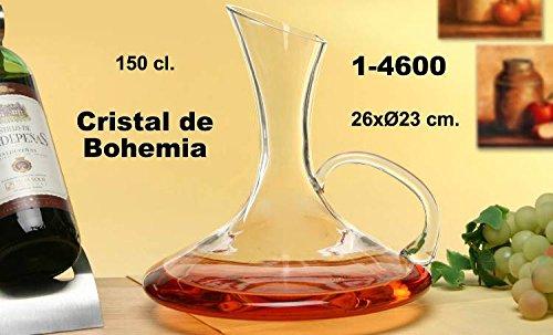 DONREGALOWEB Decantador de Cristal de Bohemia con asa en Color Transparente y 150 cl. de Capacidad.