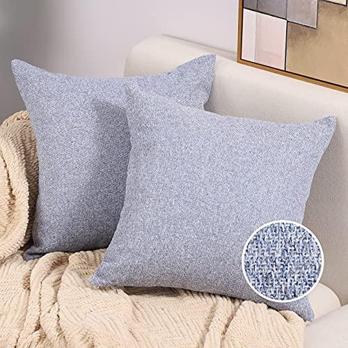 Btyrle Kissenüberzüge mit Dobby-Motiv, dekorativer Überwurf-Kissenbezug, weiche Kissenbezüge mit unsichtbarem Reißverschluss für Sofa und Couch, 40 x 40 cm, 2 Stück