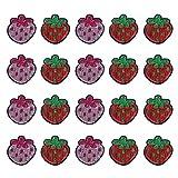VALICLUD Belle Toppe Ricamate con Paillettes di Frutta Ciliegie Cucite con Ferro sulle Toppe Applique alla Fragola per Giacche Camicie Zaino