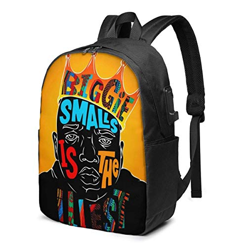 Rononand backpack Zaino Con porta di ricarica USB Zaino per laptop impermeabile casual elegante Borsa da viaggio ultraleggera Biggie & scaron ypsosi famous B.I.G. Kuprin