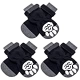 KOOLTAIL 3 Pairs Warm Dog Socks Anti-Slip Pet Winter Dog Boots Dog Shoes Traction Control Paw Protectors for Dog Indoor and Outdoor Wearing.