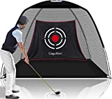 Gagalileo Golf Nets for Backyard Driving Golf Practice Net Golf Net for Indoor Use Golf Hitting Nets 10X7X6FT Home Driving Range with Target and Carry Bag (Pro Black)